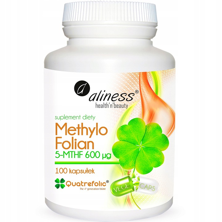 Aliness  Methylo Folian 5-mthf 600 μg x 100 caps VEGE - suplement diety