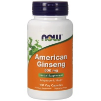 NOW Foods American Ginseng 500mg 100 kapsułek - suplement diety