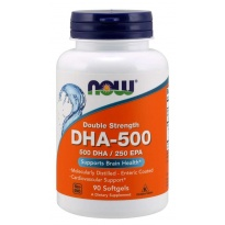 NOW Foods DHA-500 mg DOUBLE STRENGTH 90 kapsułek