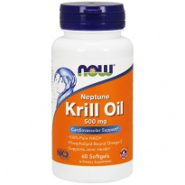 NOW Foods KRILL OIL 500mg OLEJ Z KRYLA 60 kapsułek