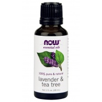 NOW foods Olejek eteryczny LAVENDER & TEA TREE OIL - 30 ml Lawenda i drzewo herbaciane