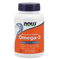 NOW Foods OMEGA-3 1000mg 100  kapsułek - suplement diety