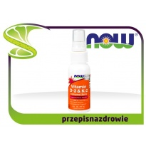 NOW Foods Witamina D-3 & K-2 Liposomalny Spray Vitamin D3 & K2 59ml