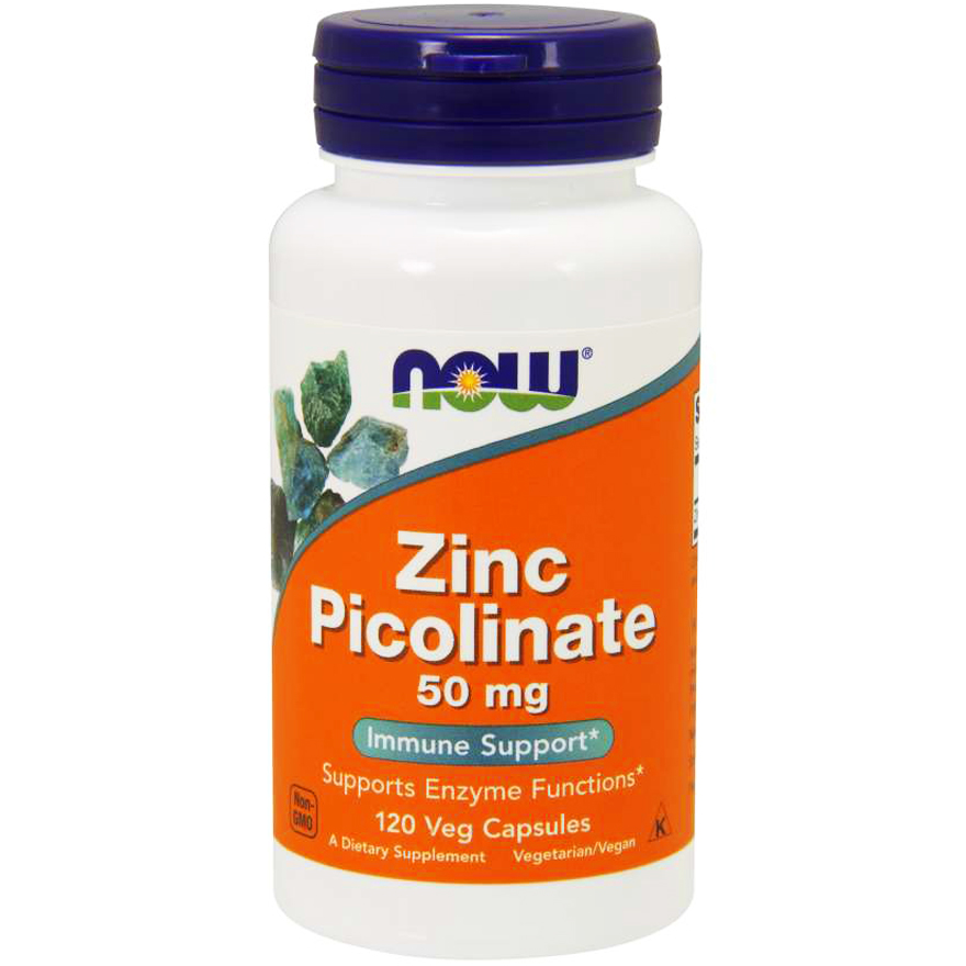 NOW Foods Zinc Picolinate CYNK PIKOLINIAN Cynku 50 mg -suplement diety- 120 kapsułek