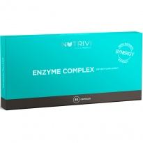 NUTRIVI Enzyme Complex 30 kapsułek - Enzymy trawienne -BROMELAIMA i PAPAINA- suplement diety