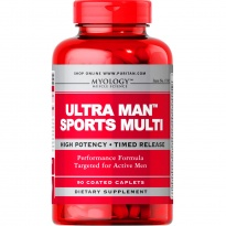 Puritan\'s Pride ULTRA MAN SPORTS MULTI WITAMINA Multiwitaminy MEN DLA MĘŻCZYZN sport Myology - suplement diety