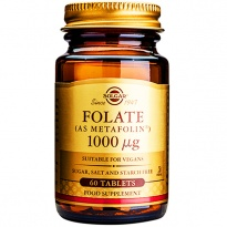 SOLGAR Folate FOLIANY 1000 mcg L-metylofolan-Metafolin® 60 tabletek