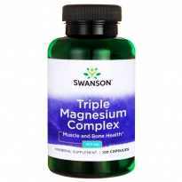 SWANSON Triple Magnesium Complex 400mg 100 kapsułek Magnez trzy formy - suplement diety
